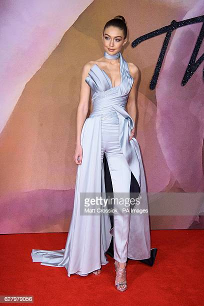 Gigi Hadid attending The Fashion Awards 2016 at the Royal Albert Hall London PRESS ASSOCIATION Photo Picture date Tuesday December 6th 2016 Photo...