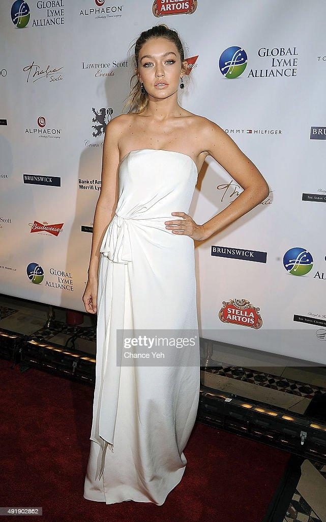 Gigi Hadid attends 2015 Global Lyme Alliance Gala at Cipriani 42nd Street on October 8, 2015 in New York City.
