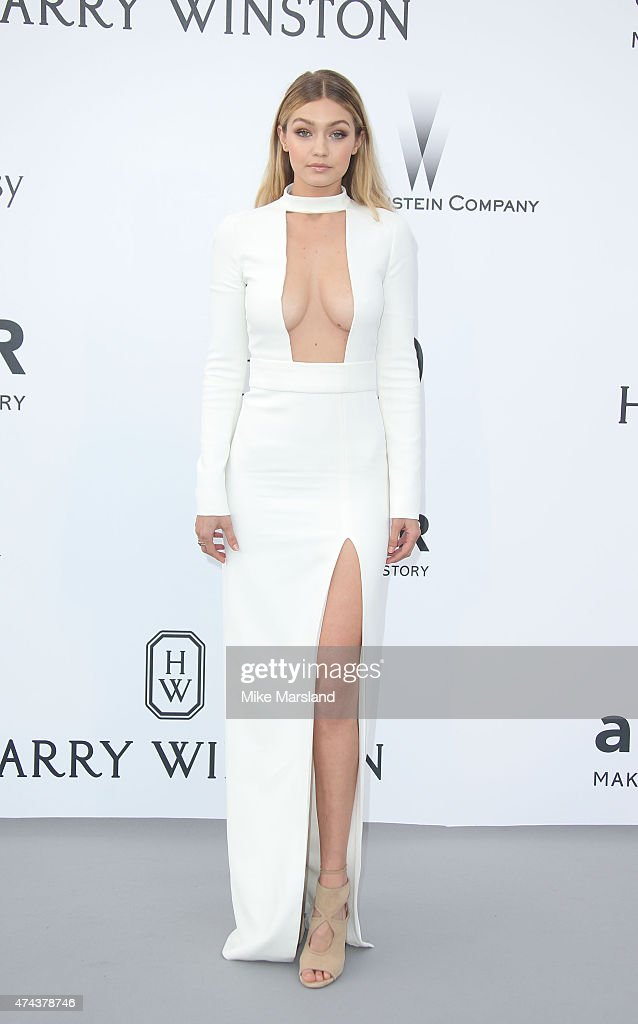 Gigi Hadid attends amfAR's 22nd Cinema Against AIDS Gala, Presented By Bold Films And Harry Winston at Hotel du Cap-Eden-Roc on May 21, 2015 in Cap d'Antibes, France.