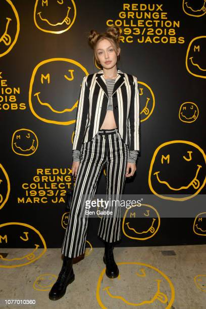 Gigi Hadid attends as Marc Jacobs Sofia Coppola Katie Grand celebrate The Marc Jacobs Redux Grunge Collection and the opening of Marc Jacobs Madison...