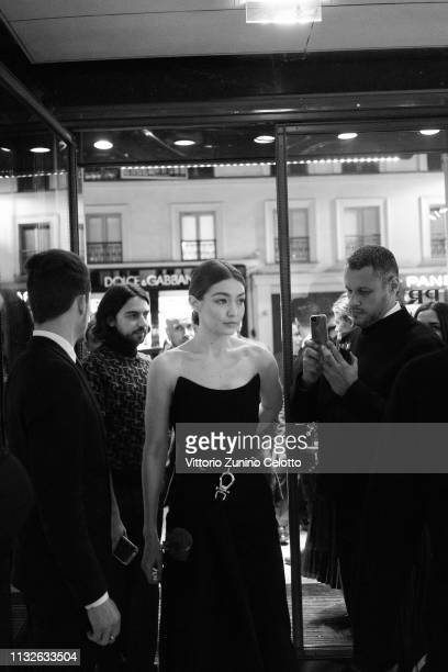 Gigi Hadid attends Double Exposure book signing at Prada Faubourg St Honoré on February 27 2019 in Paris France