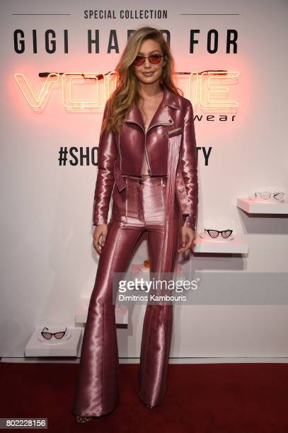 Gigi Hadid attends Gigi Hadid for Vogue Eyewear #ShowYourParty event at Industria Superstudio on June 27 2017 in New York City