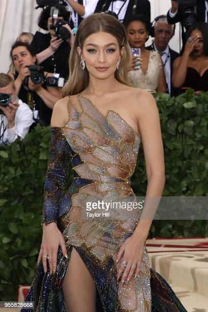 Gigi Hadid attends 'Heavenly Bodies Fashion the Catholic Imagination' the 2018 Costume Institute Benefit at Metropolitan Museum of Art on May 7 2018...