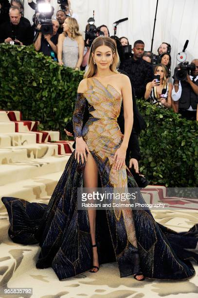 Gigi Hadid attends Heavenly Bodies Fashion The Catholic Imagination Costume Institute Gala at the Metropolitan Museum of Art in New York City