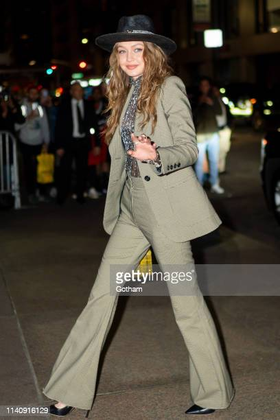 Gigi Hadid attends Marc Jacobs and Char DeFrancesco's wedding reception at The Grill in Midtown on April 06 2019 in New York City