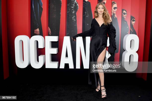 Gigi Hadid attends Ocean's 8 World Premiere at Alice Tully Hall on June 5 2018 in New York City