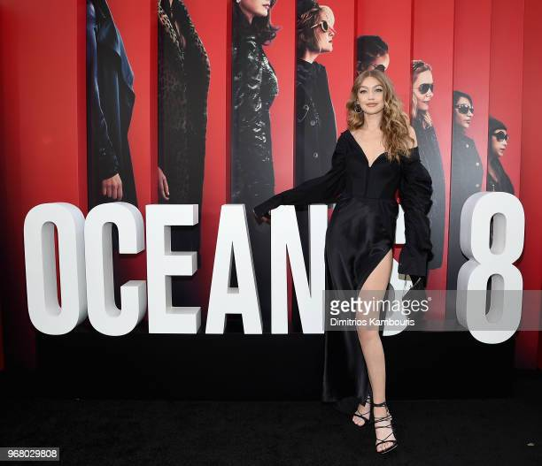 Gigi Hadid attends 'Ocean's 8' World Premiere at Alice Tully Hall on June 5, 2018 in New York City.