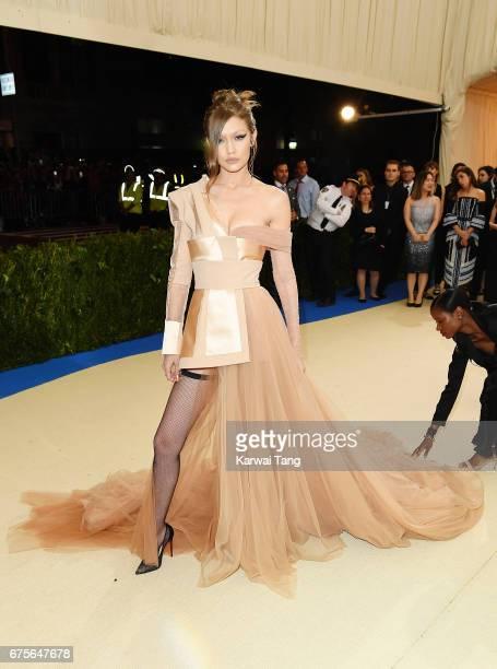 Gigi Hadid attends 'Rei Kawakubo/Comme des Garcons Art Of The InBetween' Costume Institute Gala at Metropolitan Museum of Art on May 1 2017 in New...
