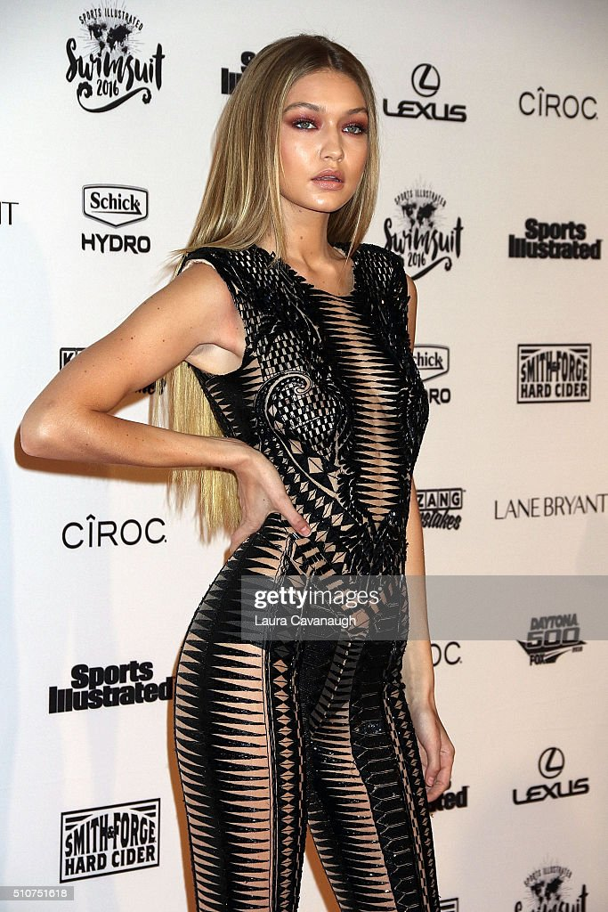 Gigi Hadid attends Sports Illustrated Celebrates Swimsuit 2016 at Brookfield Place on February 16, 2016 in New York City.