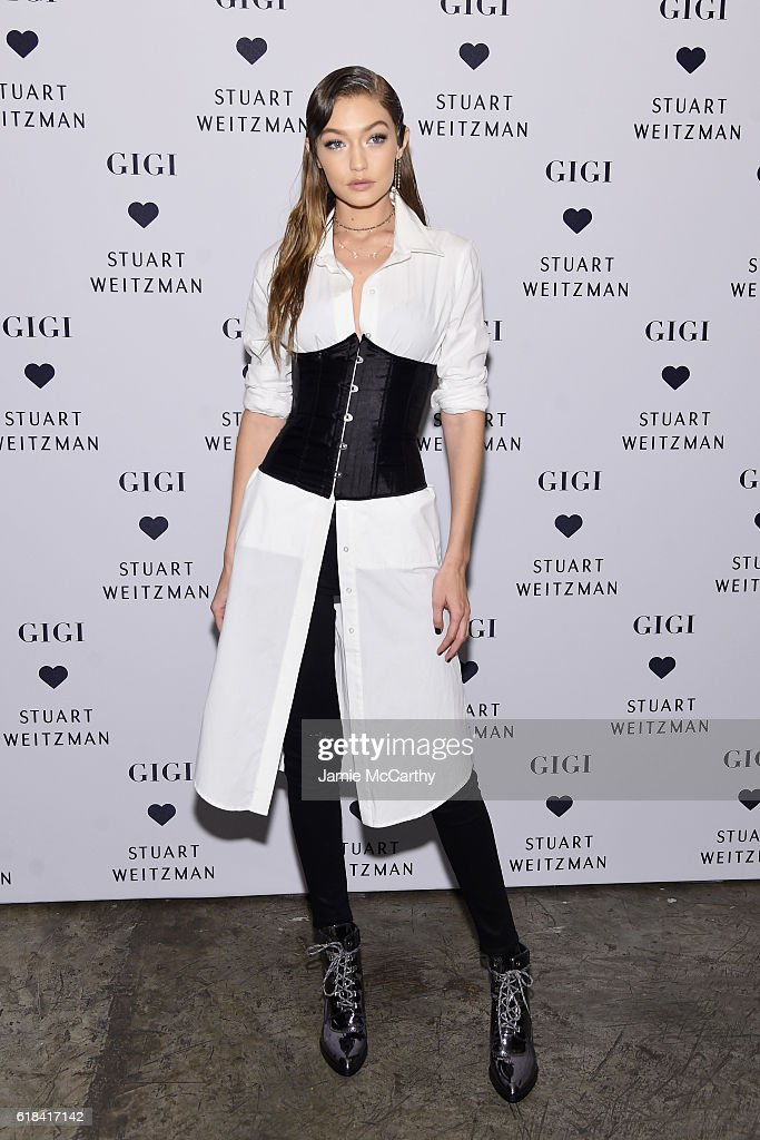 Gigi Hadid attends Stuart Weitzman's Launch of the Gigi Boot on October 26, 2016 in New York City.