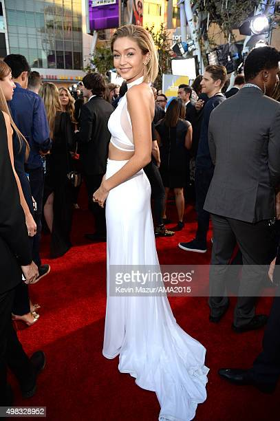 Gigi Hadid attends the 2015 American Music Awards at Microsoft Theater on November 22 2015 in Los Angeles California