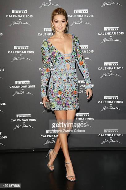 Gigi Hadid attends the 2015 Pirelli Calendar Red Carpet on November 18 2014 in Milan Italy