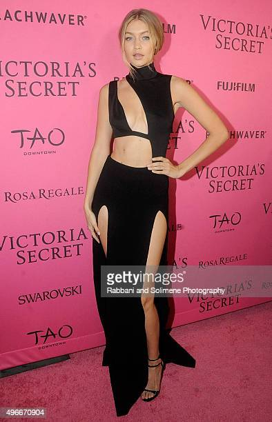 Gigi Hadid attends the 2015 Victoria's Secret Fashion Show after party at TAO Downtown on November 10 2015 in New York City