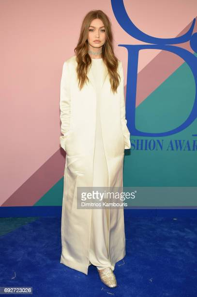 Gigi Hadid attends the 2017 CFDA Fashion Awards at Hammerstein Ballroom on June 5 2017 in New York City