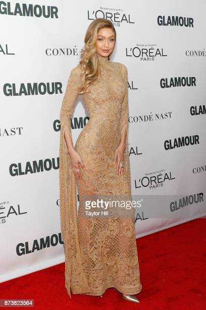 Gigi Hadid attends the 2017 Glamour Women Of The Year Awards at Kings Theatre on November 13 2017 in New York City