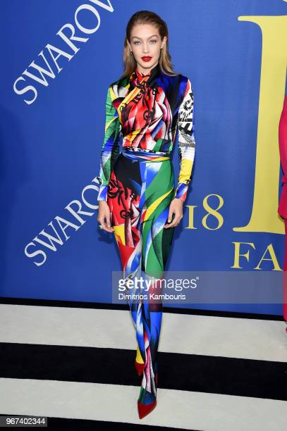 Gigi Hadid attends the 2018 CFDA Fashion Awards at Brooklyn Museum on June 4 2018 in New York City