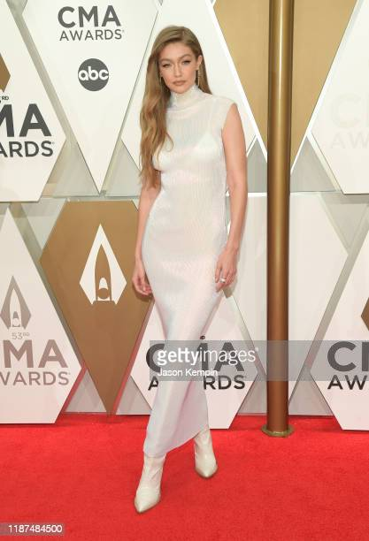 Gigi Hadid attends the 53rd annual CMA Awards at the Music City Center on November 13, 2019 in Nashville, Tennessee.