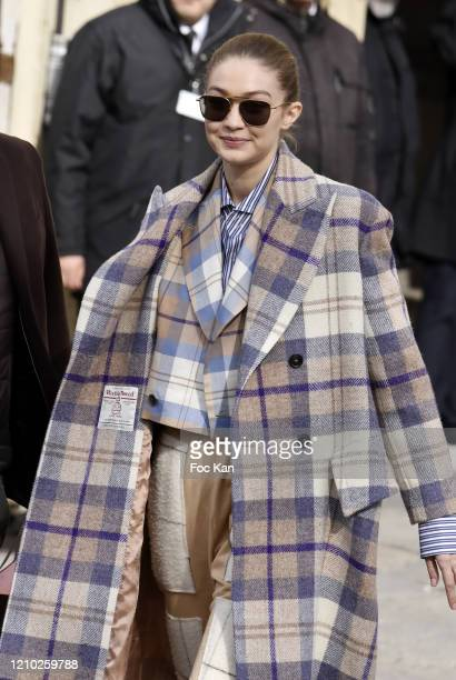 Gigi Hadid attends the Chanel show as part of the Paris Fashion Week Womenswear Fall/Winter 2020/2021 on March 03 2020 in Paris France