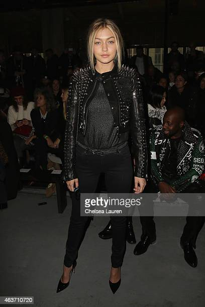 Gigi Hadid attends the Diesel Black Gold fashion show during MercedesBenz Fashion Week Fall 201 on February 17 2015 in New York City