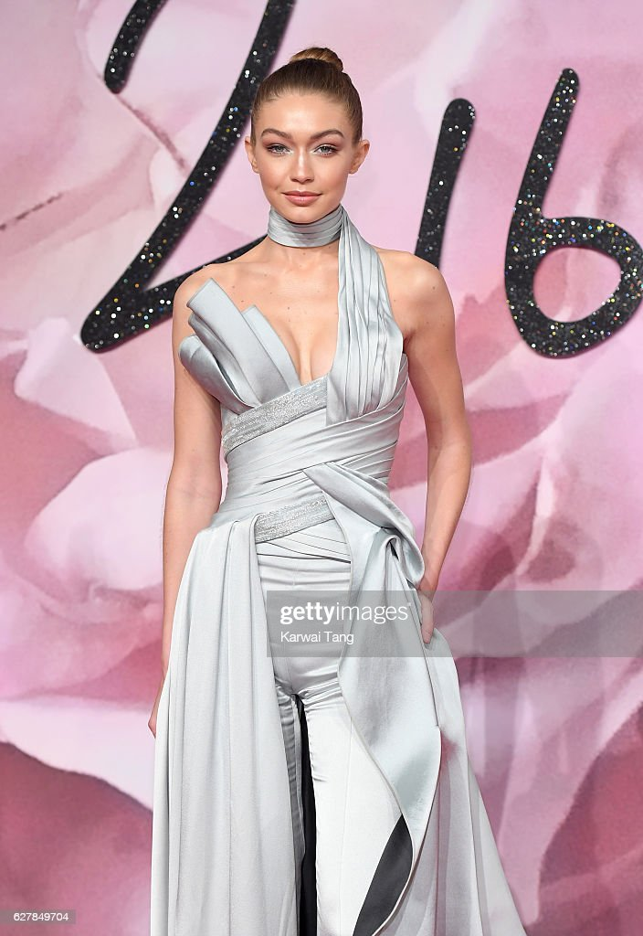 Gigi Hadid attends The Fashion Awards 2016 at the Royal Albert Hall on December 5, 2016 in London, United Kingdom.