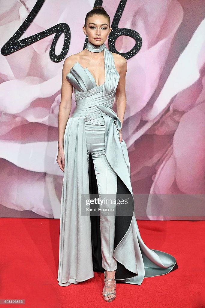 Gigi Hadid attends The Fashion Awards 2016 on December 5, 2016 in London, United Kingdom.