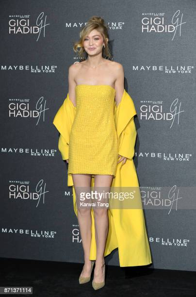 Gigi Hadid attends the Gigi Hadid X Maybelline party held at 'Hotel Gigi' on November 7 2017 in London England