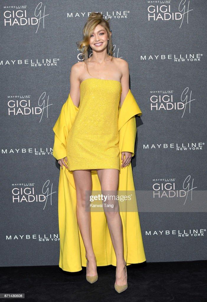 Gigi Hadid attends the Gigi Hadid X Maybelline party held at 'Hotel Gigi' on November 7, 2017 in London, England.