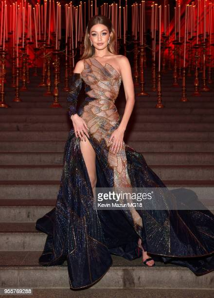 Gigi Hadid attends the Heavenly Bodies Fashion The Catholic Imagination Costume Institute Gala at The Metropolitan Museum of Art on May 7 2018 in New...