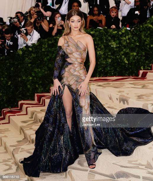 Gigi Hadid attends the Heavenly Bodies Fashion The Catholic Imagination Costume Institute Gala at Metropolitan Museum of Art on May 7 2018 in New...