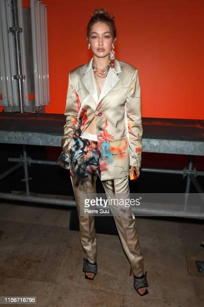 Gigi Hadid attends the Heron Preston Menswear Spring Summer 2020 show as part of Paris Fashion Week on June 18 2019 in Paris France