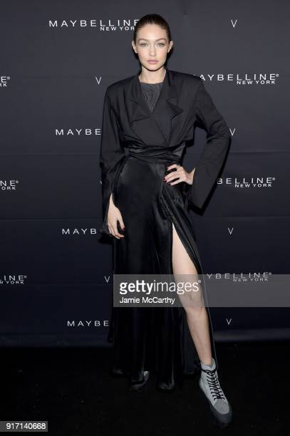 Gigi Hadid attends the Maybelline New York x V Magazine Party at the Nomo Soho Hotel on February 11 2018 in New York City