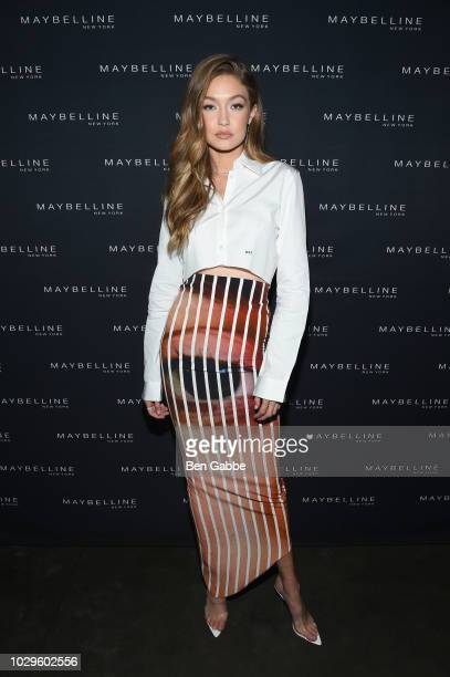 Gigi Hadid attends the Maybelline x New York Fashion Week XIX Party at Mr Purple at the Hotel Indigo LES on September 8 2018 in New York City