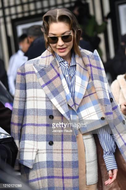 Gigi Hadid attends the Miu Miu show as part of the Paris Fashion Week Womenswear Fall/Winter 2020/2021 on March 03 2020 in Paris France