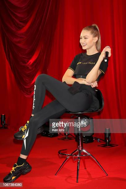 Gigi Hadid attends the Reebok Classic 'Future Nostalgia' Party on November 14 2018 in Tokyo Japan