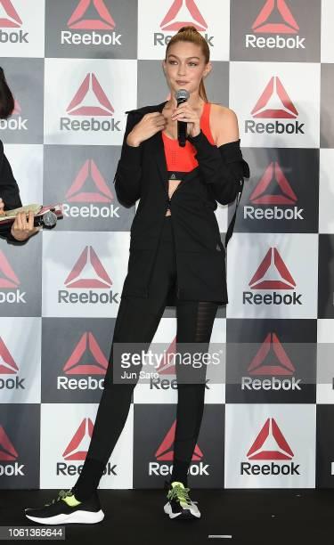 Gigi Hadid attends the Reebok talk event at CrossFit Toranomon on November 14 2018 in Tokyo Japan