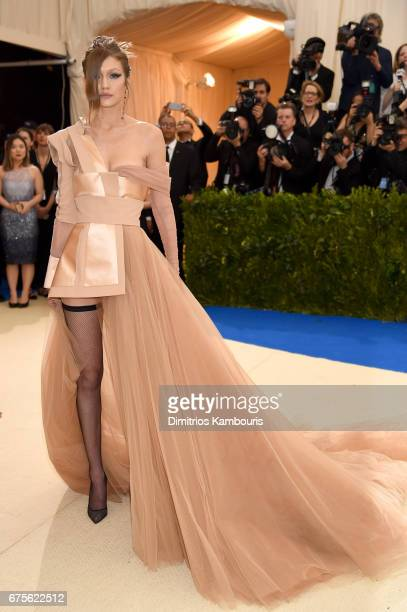 """Gigi Hadid attends the """"Rei Kawakubo/Comme des Garcons: Art Of The In-Between"""" Costume Institute Gala at Metropolitan Museum of Art on May 1, 2017 in..."""
