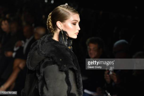Gigi Hadid attends the Tom Ford AW/20 Fashion Show at Milk Studios on February 07, 2020 in Los Angeles, California.