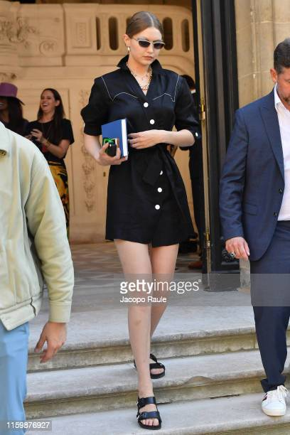 Gigi Hadid attends the Valentino Haute Couture Fall/Winter 2019 2020 show as part of Paris Fashion Week on July 03 2019 in Paris France