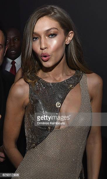 Gigi Hadid attends the Victoria's Secret After Party at the Grand Palais on November 30 2016 in Paris France