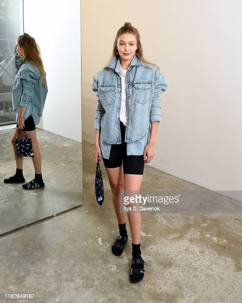 Gigi Hadid attends the WARDROBENYC launch of Release 04 DENIM Levi's® Collaboration on July 17 2019 in New York City