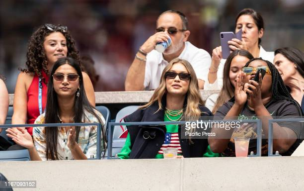 Gigi Hadid attends women's final match at US Open Championships between Serena Williams and Bianca Andreescu at Billie Jean King National Tennis...