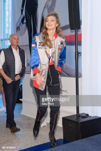 3d6780250cc7 Gigi Hadid celebrates the Spring 2018 Tommy Hilfiger Watch Collection at  Macy s Herald Square on April