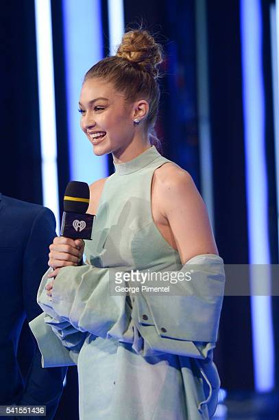Gigi Hadid hosts the 2016 iHeartRADIO MuchMusic Video Awards at MuchMusic HQ on June 19 2016 in Toronto Canada