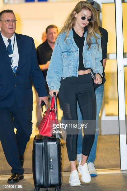 Gigi Hadid is seen arriving at JFK Airport on September 1 2018 in New York City