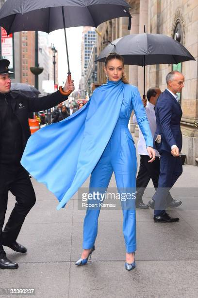 Gigi Hadid is seen at Cipriani 42nd Street for the Variety's Power of Women on April 5, 2019 in New York City.
