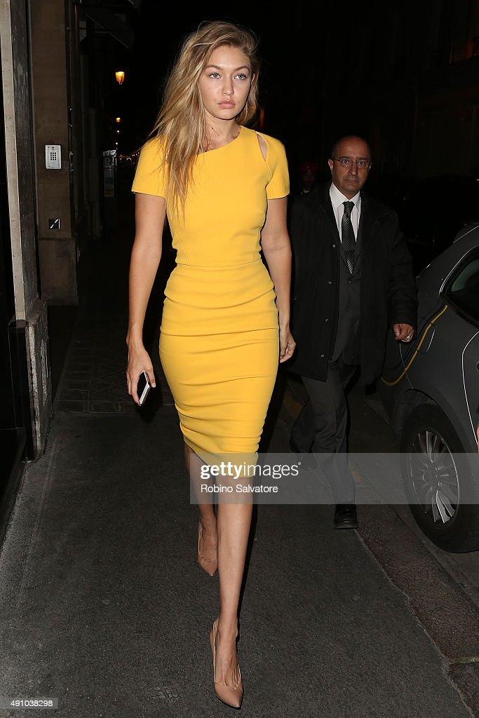 Gigi Hadid is seen during the Paris Fashion Week S/S 2016 on October 2, 2015 in Paris, France.