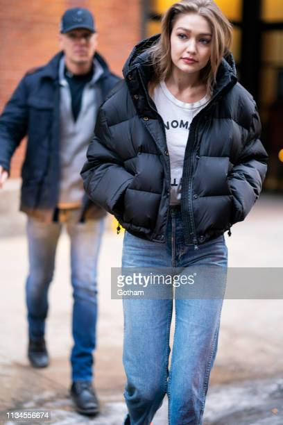 Gigi Hadid is seen in Chelsea on March 08 2019 in New York City