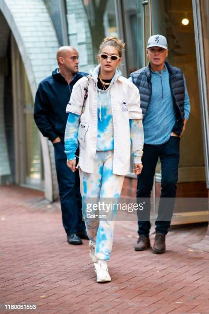 Gigi Hadid is seen in Chinatown on October 09 2019 in New York City