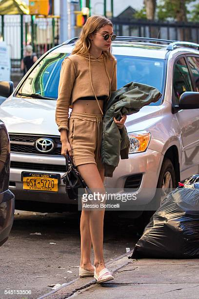 Gigi Hadid is seen in East Village on July 5 2016 in New York New York