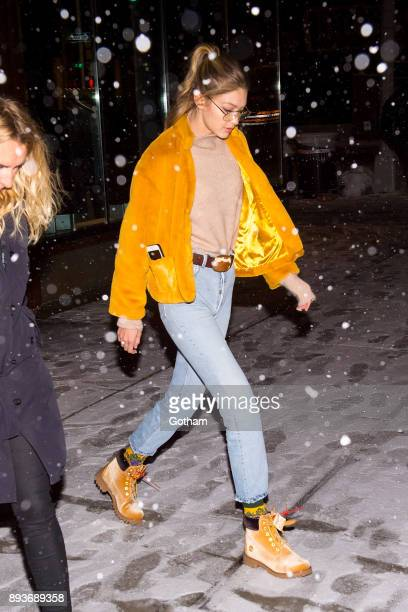 Gigi Hadid is seen in NoHo on December 15 2017 in New York City